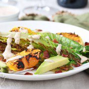 Grilled Romain Salad with Buttermilk Dressing
