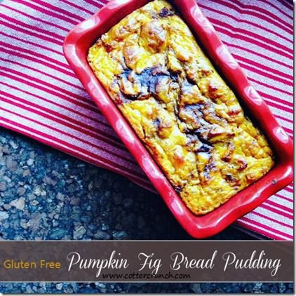 Paleo and Vegan Pumpkin and Fig Bread Pudding. Plus Why We Might Need Carbs During Fall Season