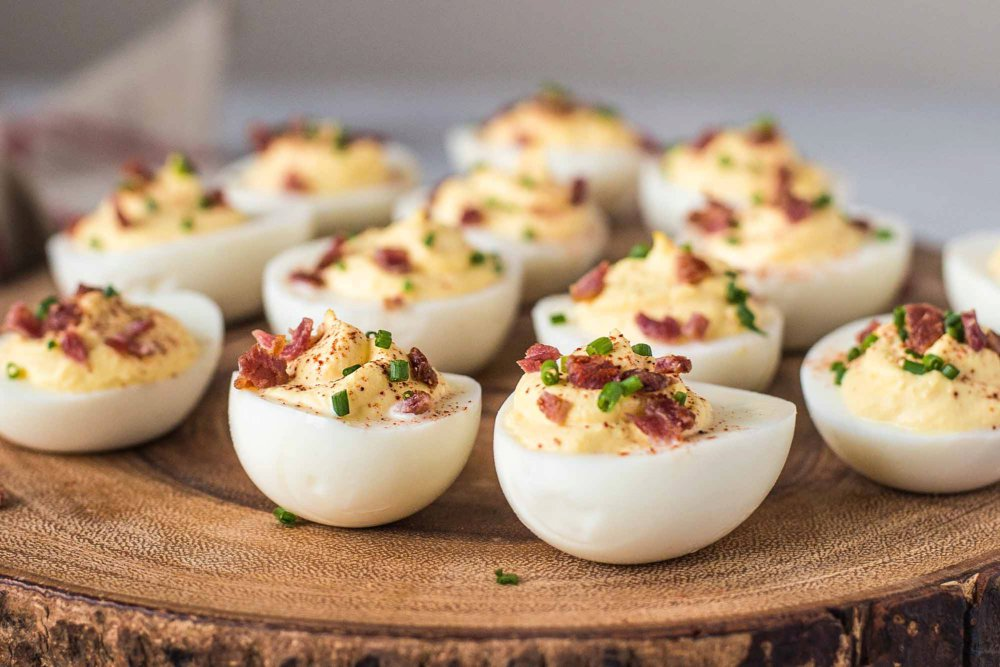 Sour Cream and Bacon Deviled Eggs