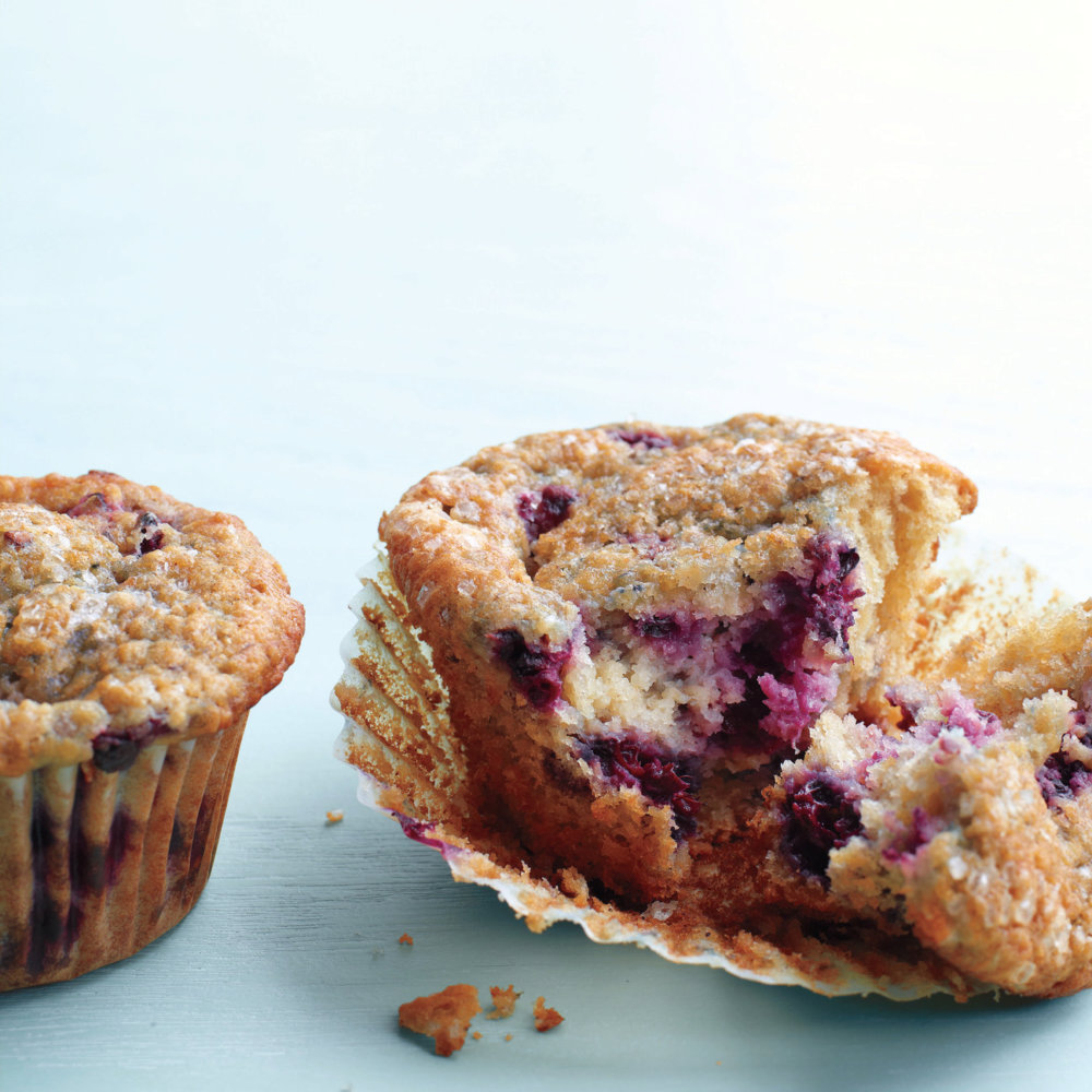Blackberry-Oat Bran Muffins