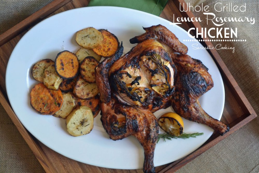 Whole Grilled Lemon Rosemary Chicken