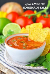 Fresh 5-Ingredient Homemade Salsa