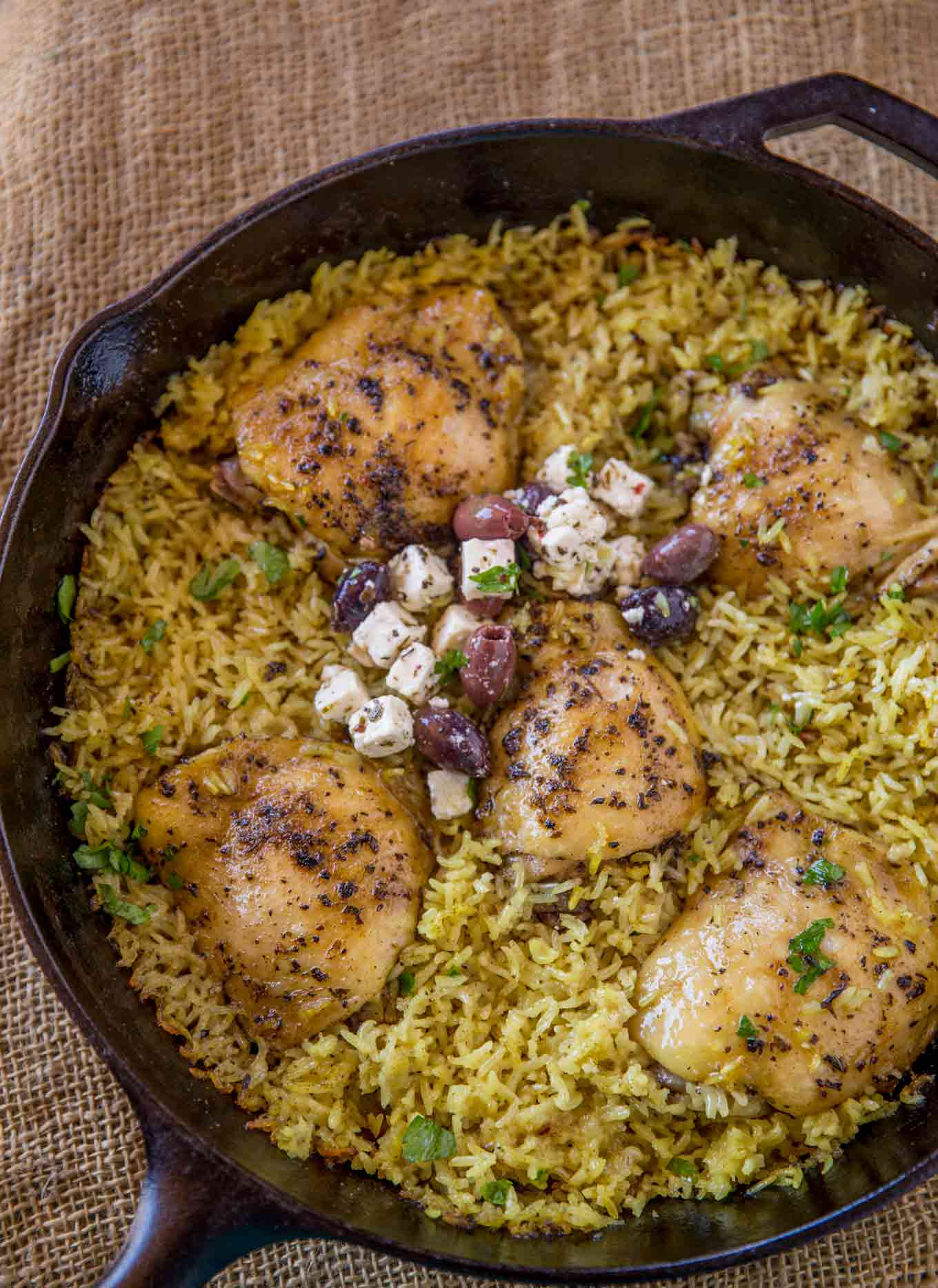 One Pot Mediterranean Chicken and Rice